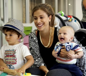 Renata with Rafa and Gabriel enjoying Kidscape