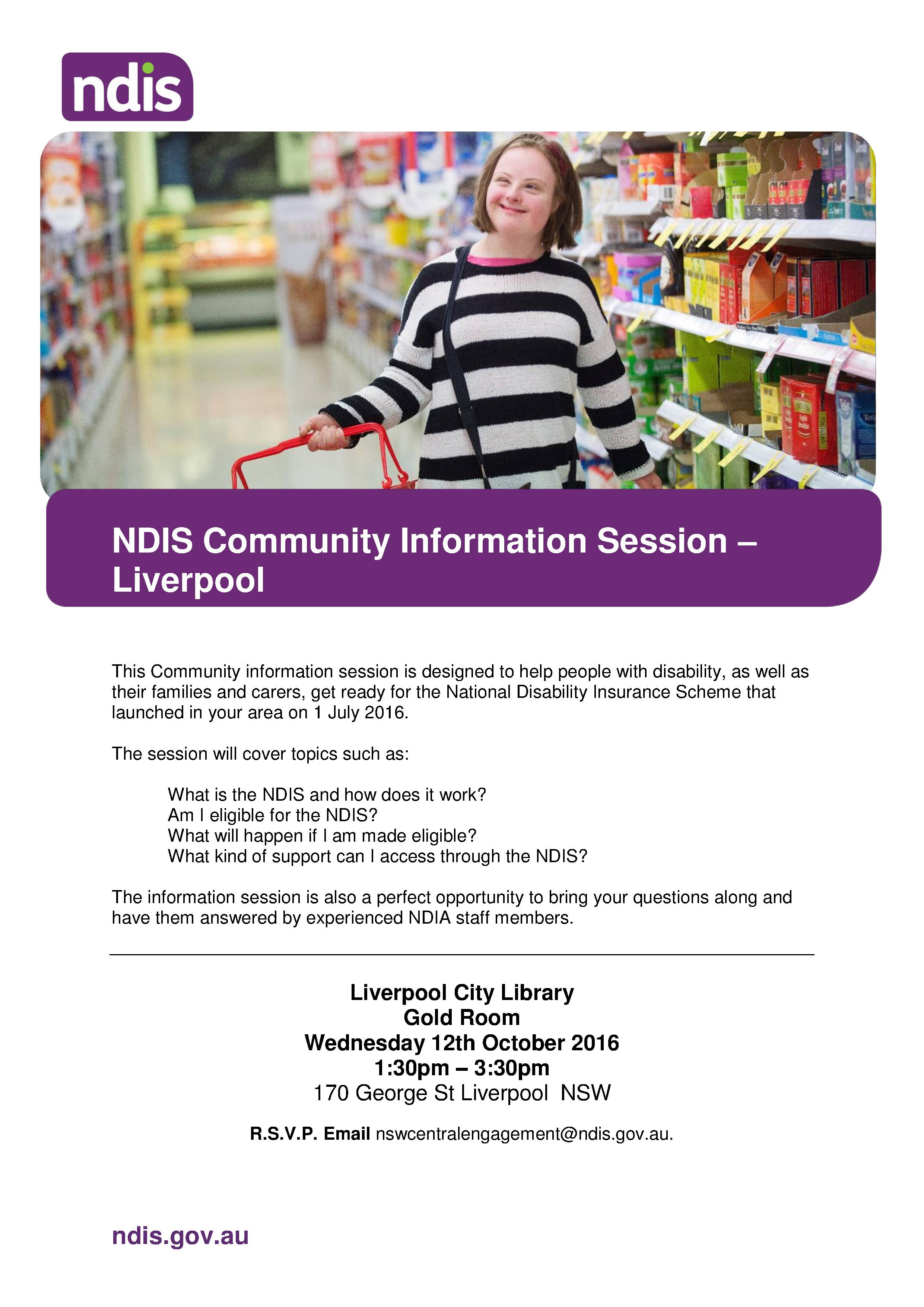 NDIS info session Liverpool