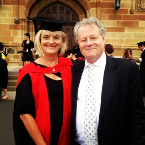 Anne PhD Graduate with Greg