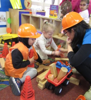 Corporate Volunteers from Dolby Share Musical Moments with Preschoolers