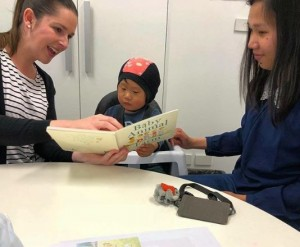 Therapist uses Walker Books title in session to support deaf child improve literacy