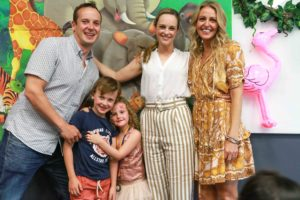 O'Hagan family with Shepherd Centre ambassador Penny McNamee
